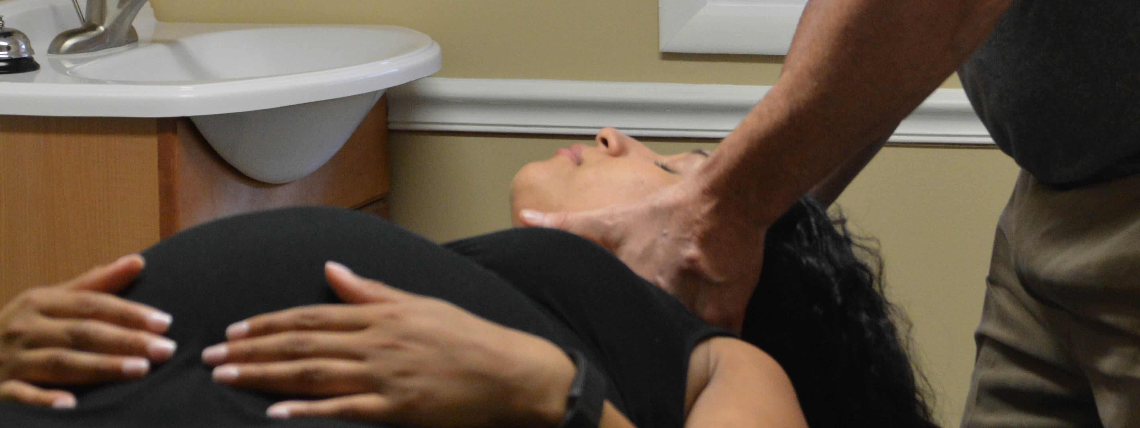 Patient receiving chiropractic care