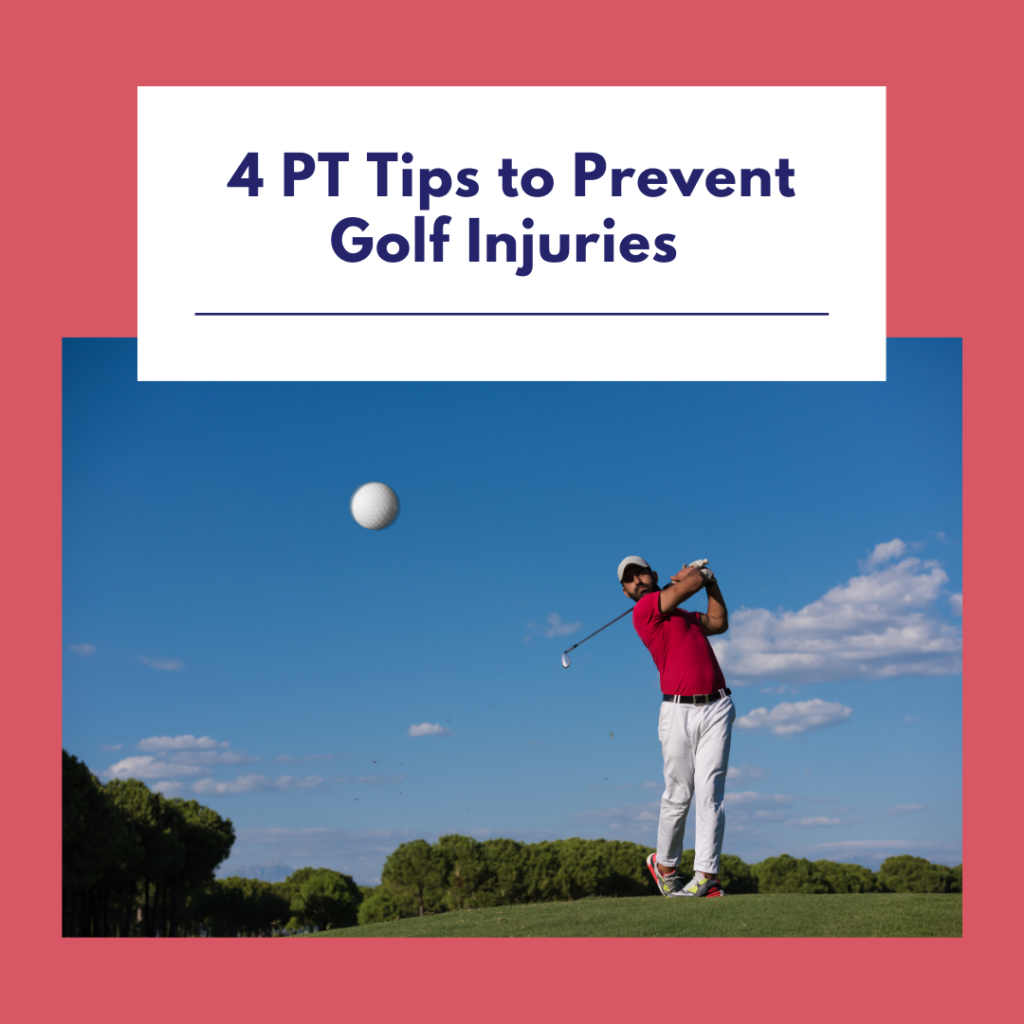 4 PT Tips to Prevent Golf Injuries — Man swinging club on golf course